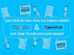 Vergleich zwischen Google und Seznam-Suche